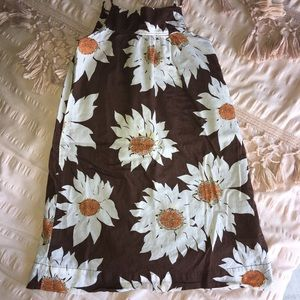 Gap kids brown floral tank dress size 4